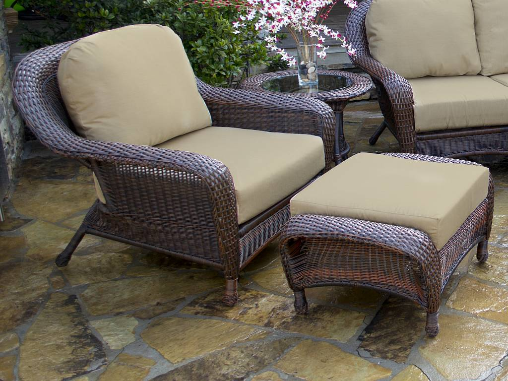 resin wicker chair with ottoman diy rocking cushion set tortuga lexington club lex co1 click for larger view