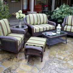 Wicker Porch Chairs Aluminum Chaise Lounge Pool Tortuga 5 Pc Lexington Resin Patio Set Fn21500