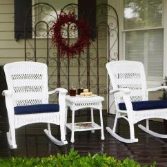 Navy Blue Patio Chair Cushions Cheap Folding Table And Chairs Portside Plantation Rocker 3 Pc. Set - Psr2-c