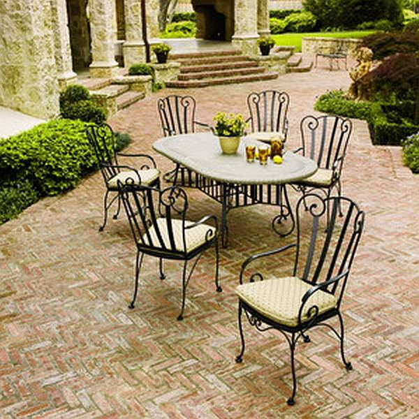 wrought iron dining chairs office chair olx deauville table set woo deauvilleset click to enlarge