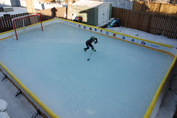 Let The Frozen Backyard Rink Memories Begin
