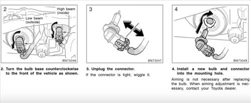 How to Replace Headlight Bulb 2003-2008 Toyota Corolla
