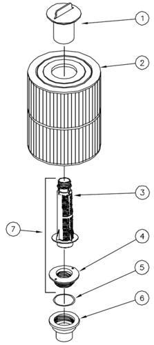 Tiger River filter compartment parts.