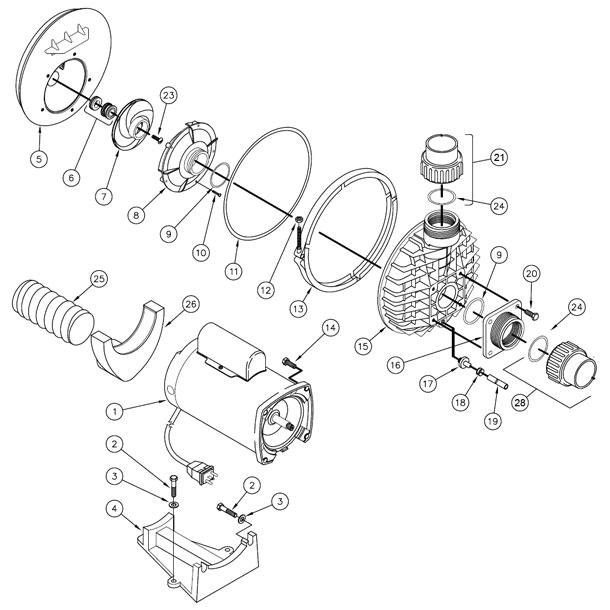 Watkins Wavemaster 7000 (version 1) jet pump parts.