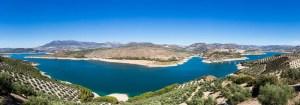 Panorama of Iznajar and lake