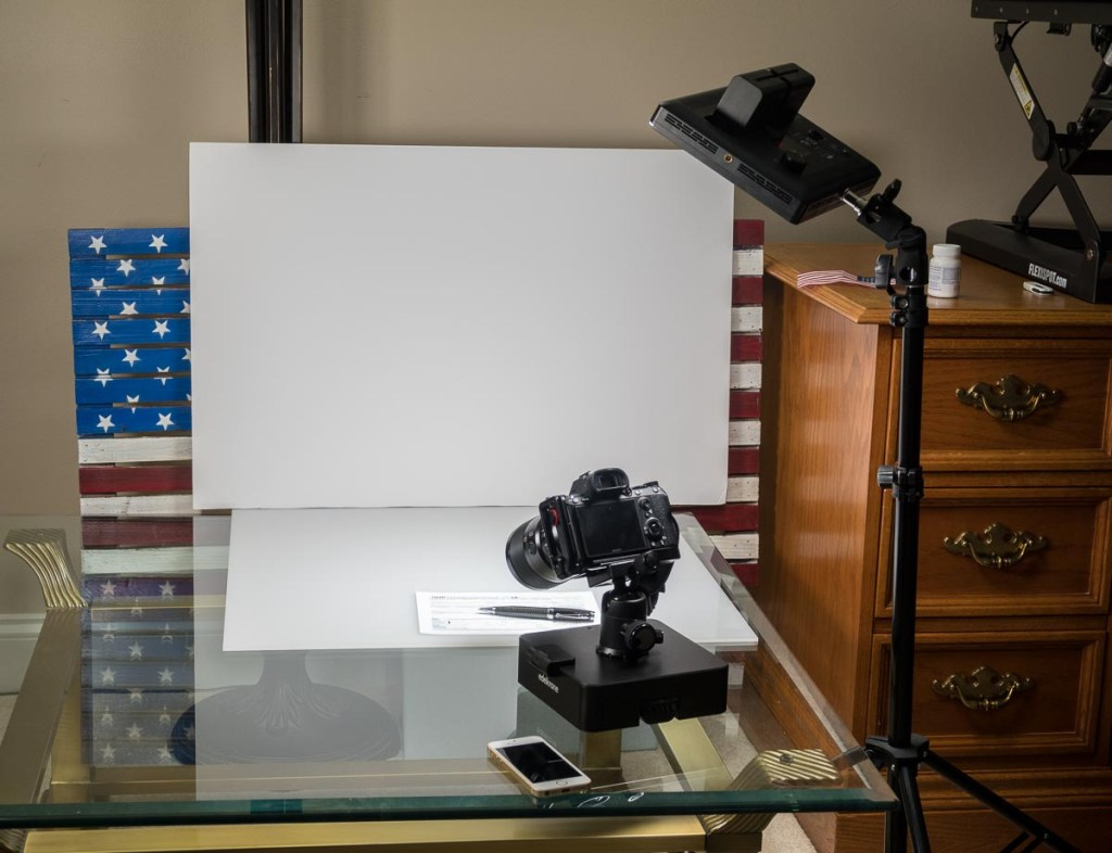 Creating a stock video about the 2018 USA tax form 1040