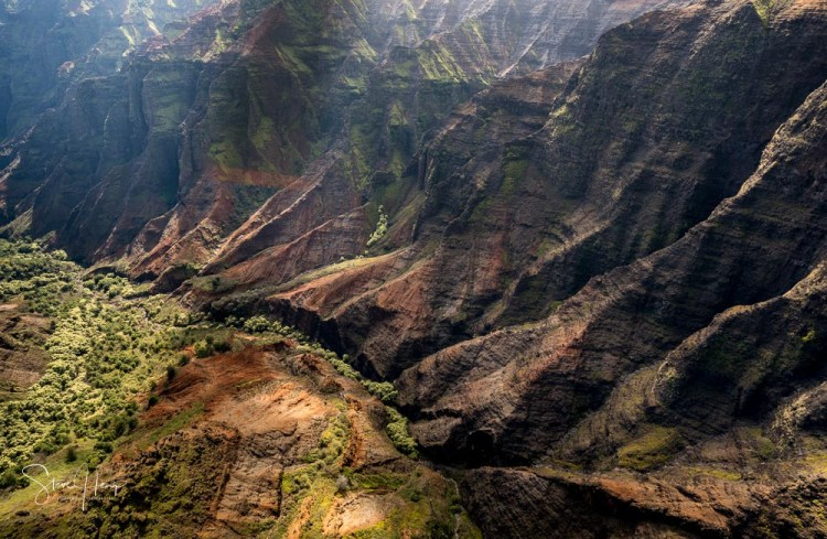 Waimea Canyon from a helicopter tour of Kauai