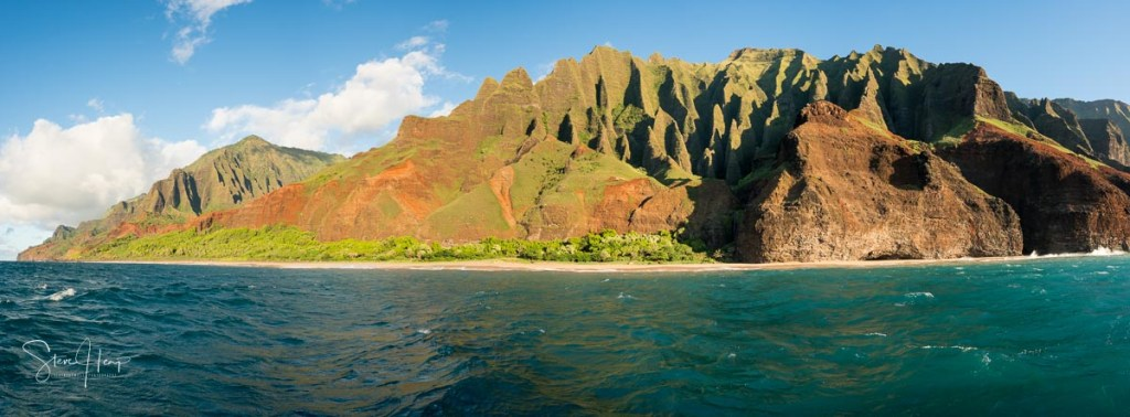 Recent sale on Fine Art America of a large canvas print of the Na Pali coastline in Kauai