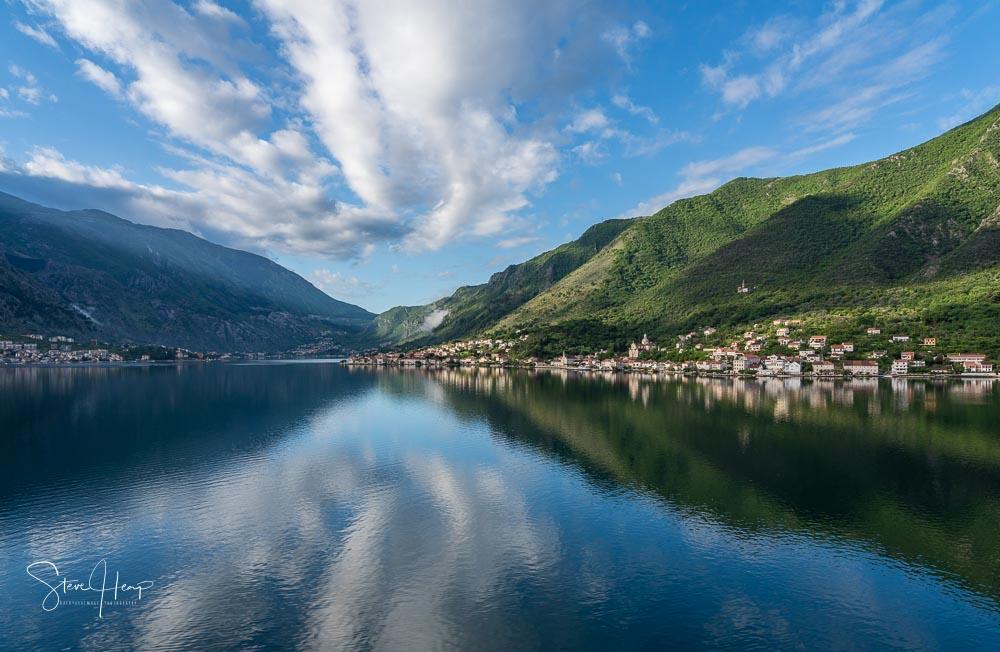 Cruising into Kotor in Montenegro stock photo