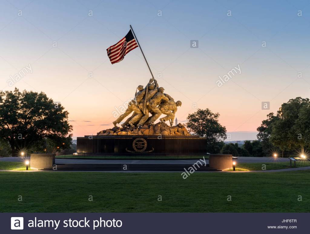 Iwo Jima monument in Washington DC at sunrise