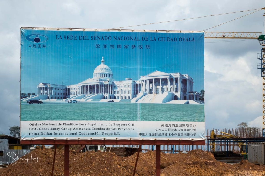 Senate building in Oyala in Equatorial Guinea