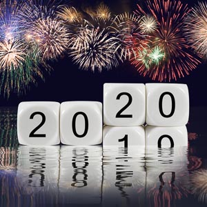 Happy New Year concept stock image