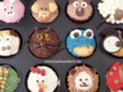 Cupcakes mit Tiergesichtern
