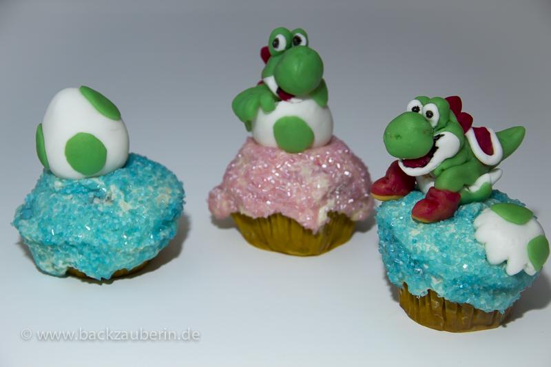Yoshi's New Island Cupcakes