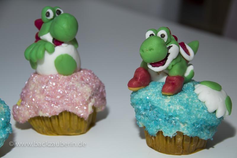 Yoshi's New Island Cupcakes; Yoshi ist da