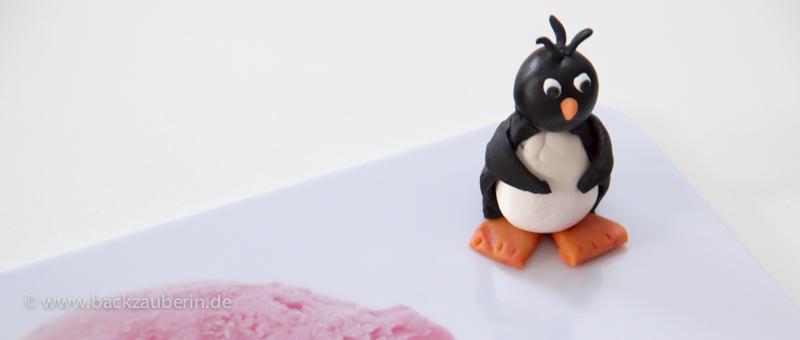 Vorbereitung der Pinguine - der erste ist fertig
