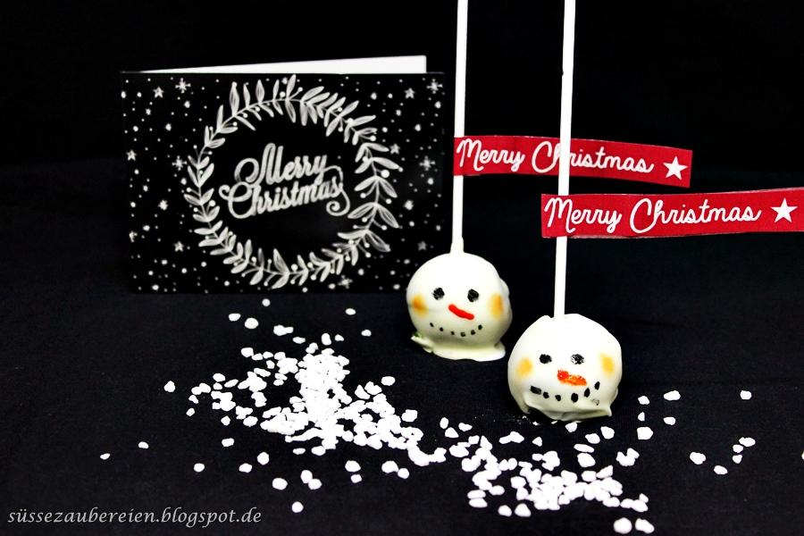 Snowman Lebkuchen Cake Pops von Süsse Zaubereien
