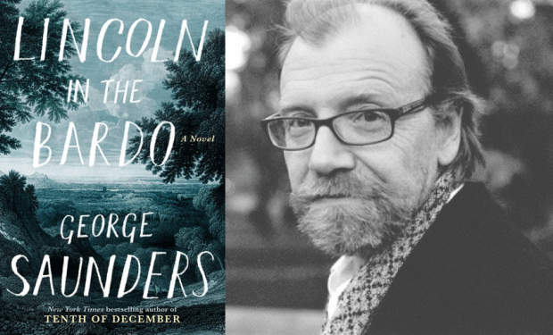 George Saunders with cover