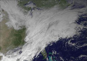 Satellite image of a polar vortex