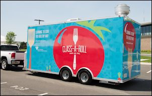 The Class-A-Roll teaching kitchen on wheels