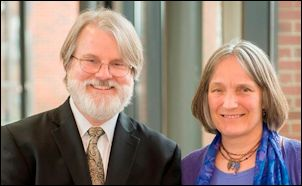 Gardner Campbell (left) and Christina Engelbart.