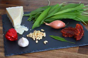 Bärlauch Pesto selbstgemacht - Die Zutaten
