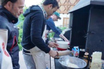 Süße Flammkuchen beim Grillkurs in Rostatt