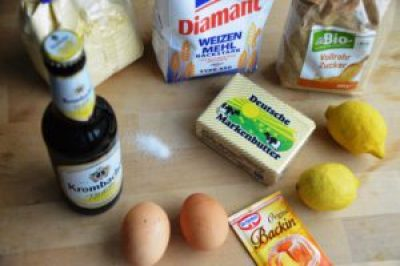 Zutaten für Maisbrot mit Radler vom Grill