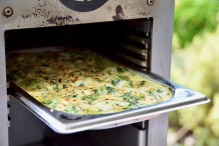 Cheesed spinach - Spinat mit Käse vom Oberhitzegrill