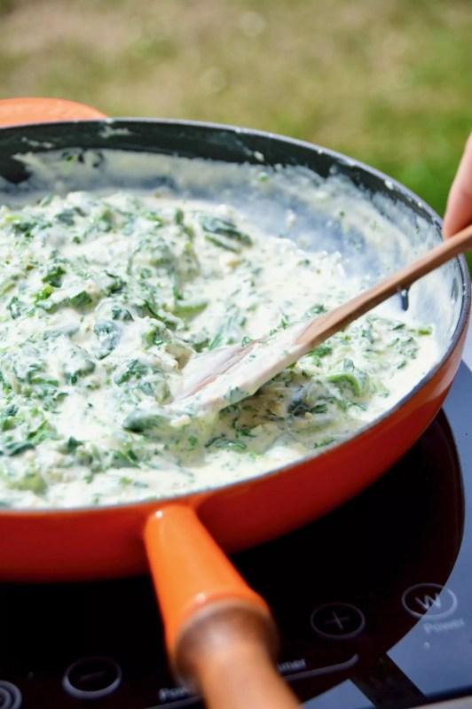 Käse-Spinat vom Grill