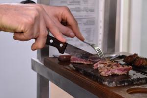 Dan Morgan Steak-Präsentation Abacco's Steakhouse Stuttgart