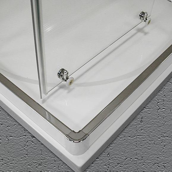 Duschkabine Eckeinstieg 100 x 90 x 190 cm Schiebetr Duschabtrennung Dusche Eckeinstieg