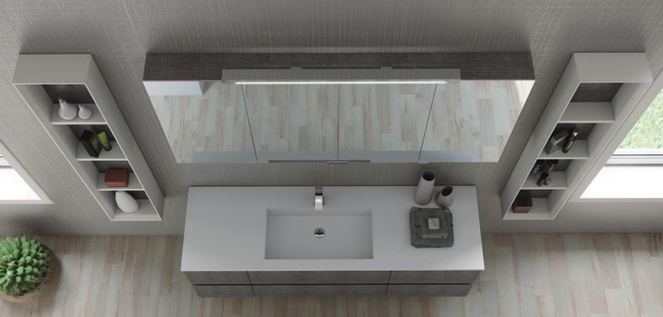 Spiegelschrnke Wandspiegel Leuchten Badezimmer  BadDirekt