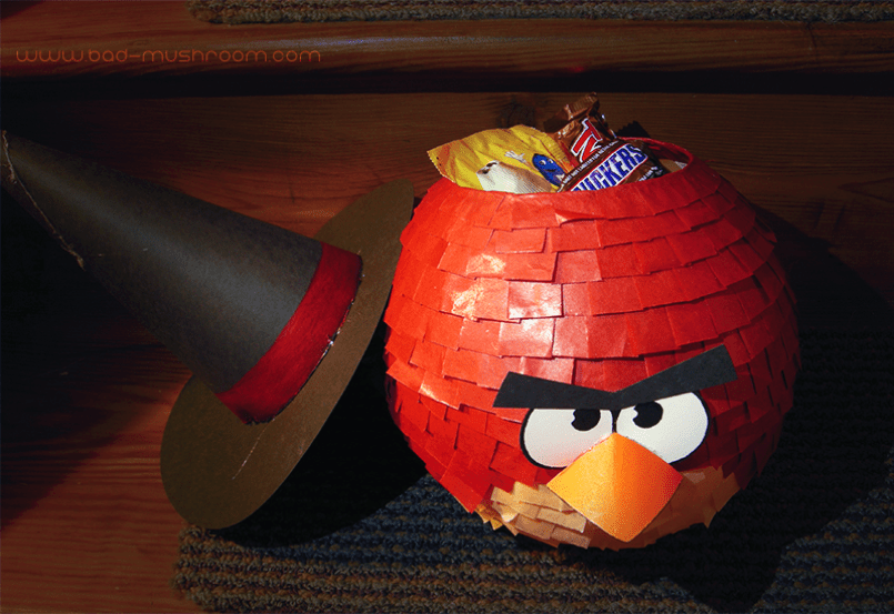 Angry Birds Halloween candy bowl