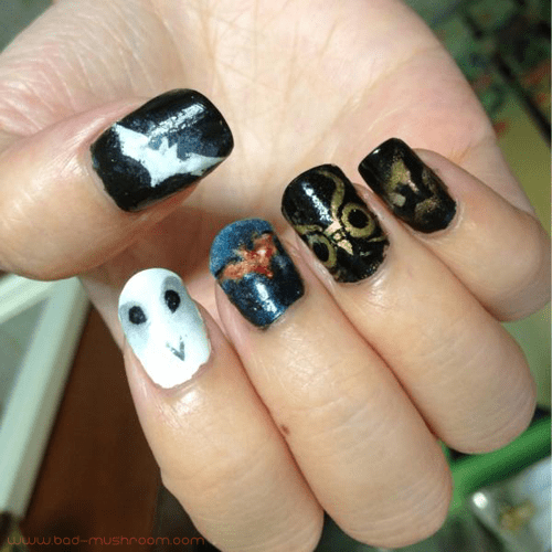 Batman Nolan cinematic trilogy and Court of Owls nail art
