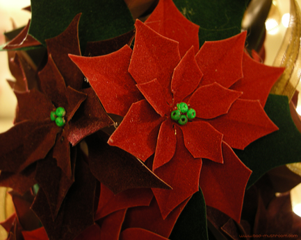 paper poinsettia christmas tree craft
