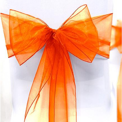 Noeud de chaise en organza Orange noeud mariage pas cher Badaboum