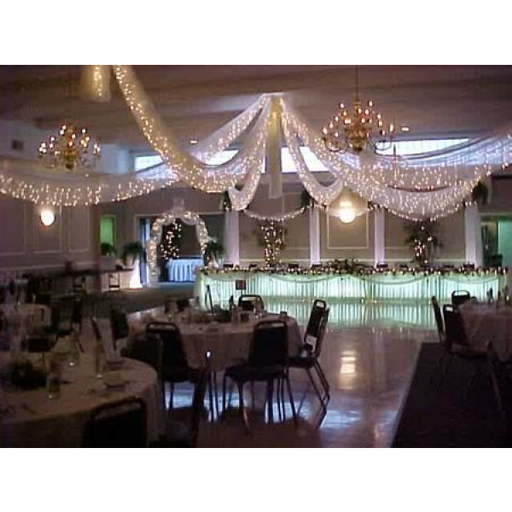 Tenture mariage en tulle 25 mtres decoration salle mariage  Badaboum