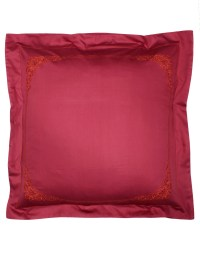 Embroidered pillow case FLOREAL sateen of cotton ...
