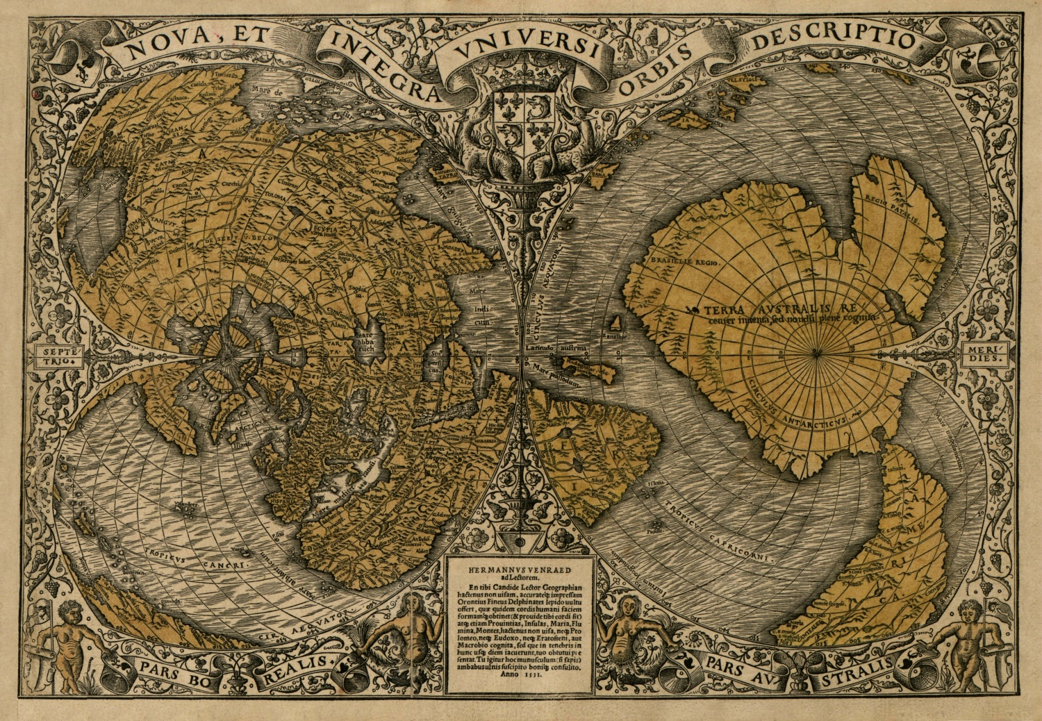 The orontius finaeus map bad archaeology the map of oronce fin gumiabroncs Image collections