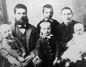 Olof Ohman and family in the 1890s