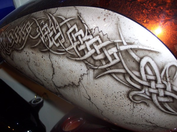 Custom Airbrush Painted Tribal And Celtic Design Bad