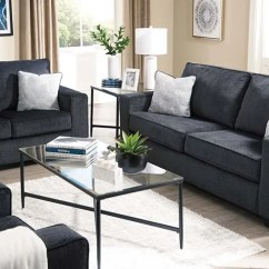 Living Room Furniture Set Up Gray With Brown Leather Lastman S Bad Boy