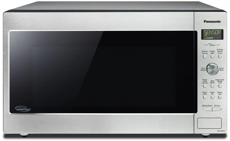 panasonic 24 inch 2 2 cu ft countertop microwave in stainless steel nnsd965s