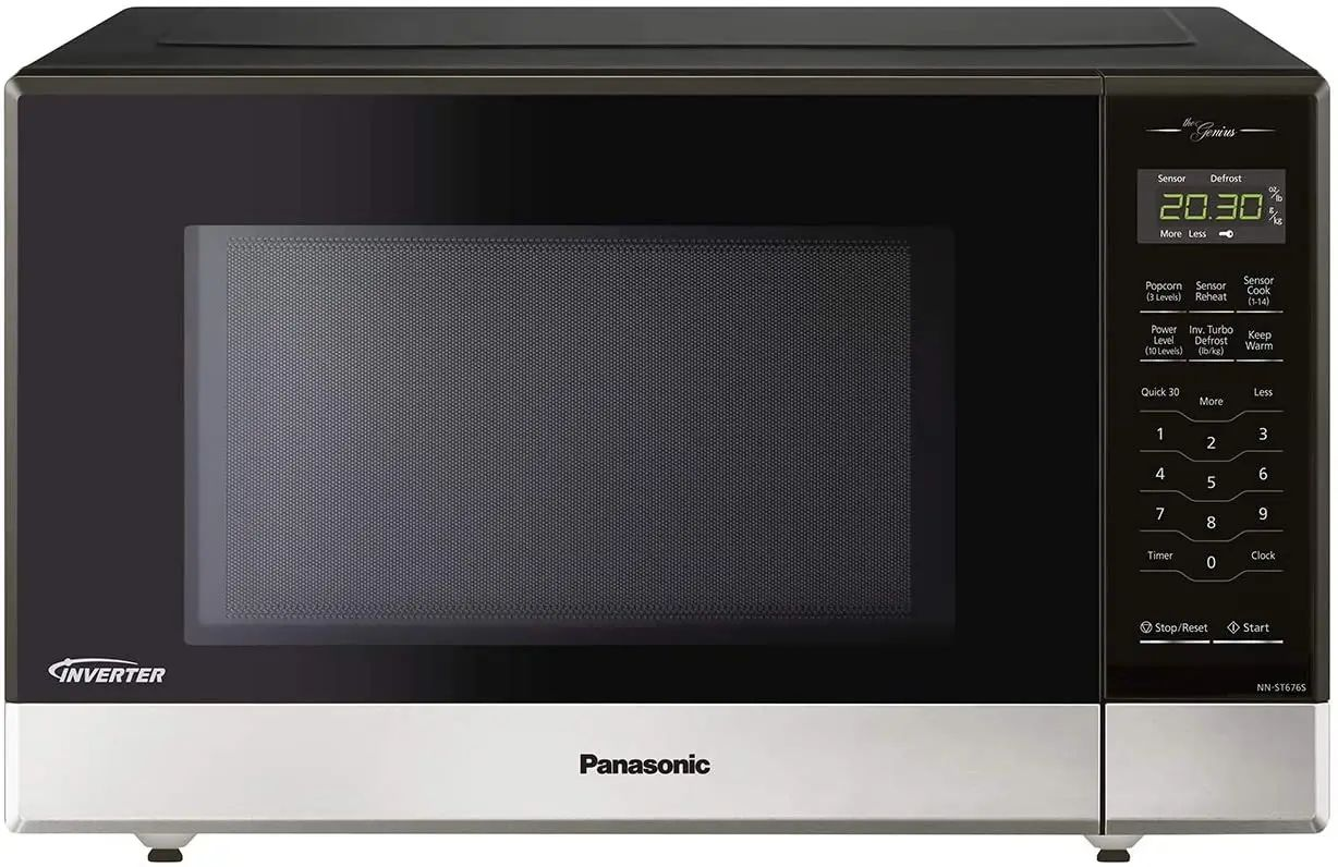 panasonic 20 inch 1 2 cu ft countertop oven microwave oven in stainless steel nnst676s