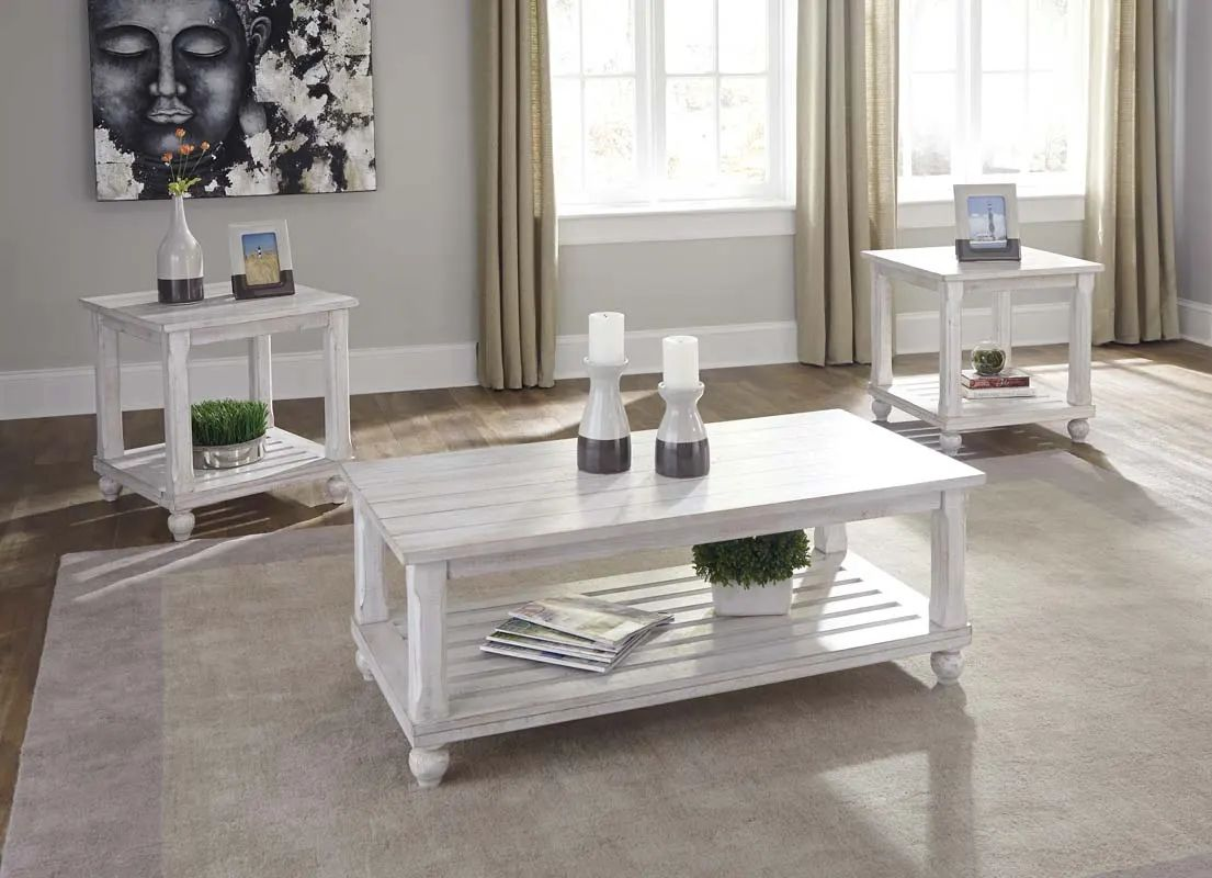 signature design by ashley cloudhurst occasional table set in white 3 cn t488 13