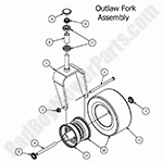 Bad Boy Mower Parts Lookup|2017 Outlaw XP|Front Fork Assembly