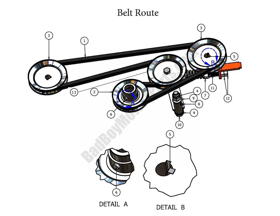 Bad Boy Parts Lookup 2007 Pup Belt Route