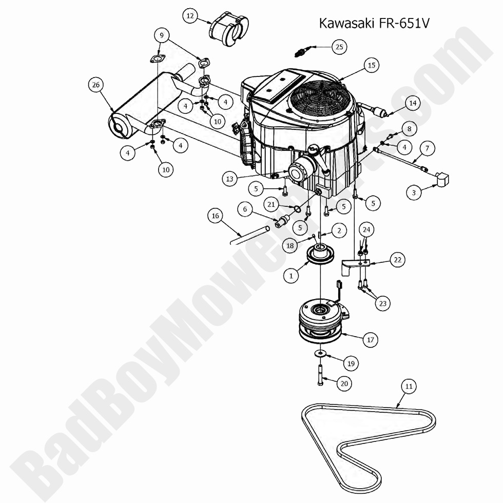 Bad Boy Mower Parts Lookup|2017 MZ & MZ Magnum|Engine