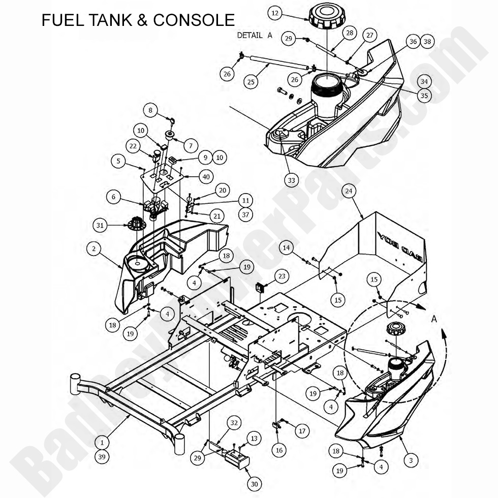 Bad Boy Mower Parts Lookup|2017 MZ & MZ Magnum|Fuel Tank
